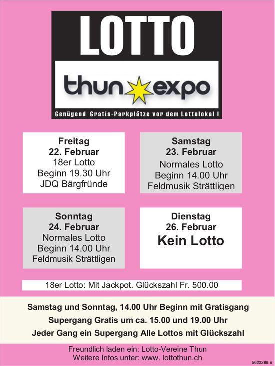 LOTTO Thun Expo - 22./23./24. Februar