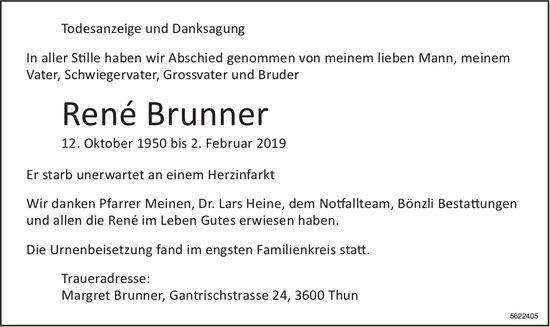 Brunner René, Februar 2019 / TA/DS