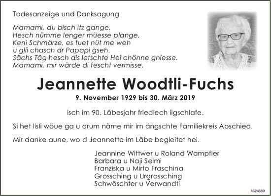 Woodtli-Fuchs Jeannette im April 2019 / TA/DS