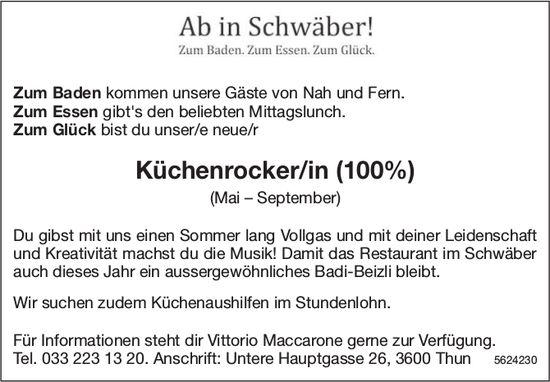 Küchenrocker/in (100%), Restaurant im Schwäber, Thun, gesucht