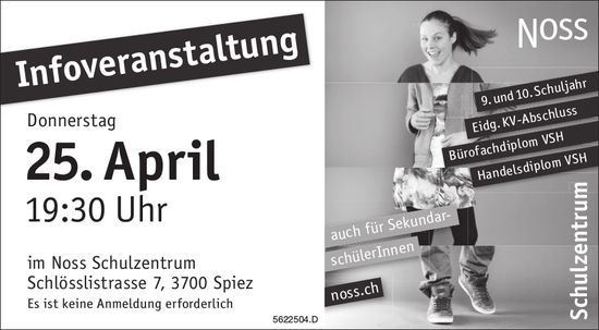 Noss Schulzentrum - Infoveranstaltung am 25. April