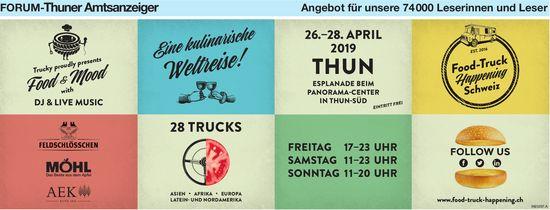 Forum-Thuner Amtsanzeiger - Food-Truck Happening, Thun, 26.-28. April