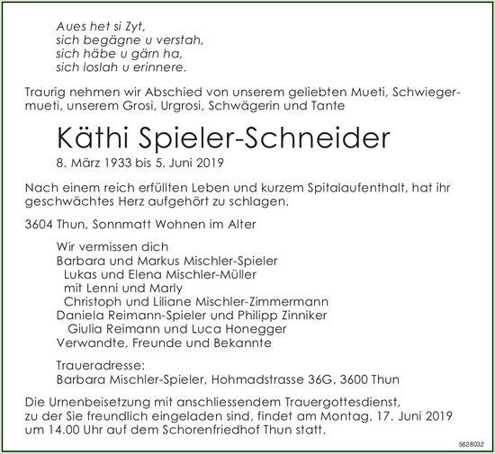 Spieler-Schneider Käthi, Juni 2019 / TA