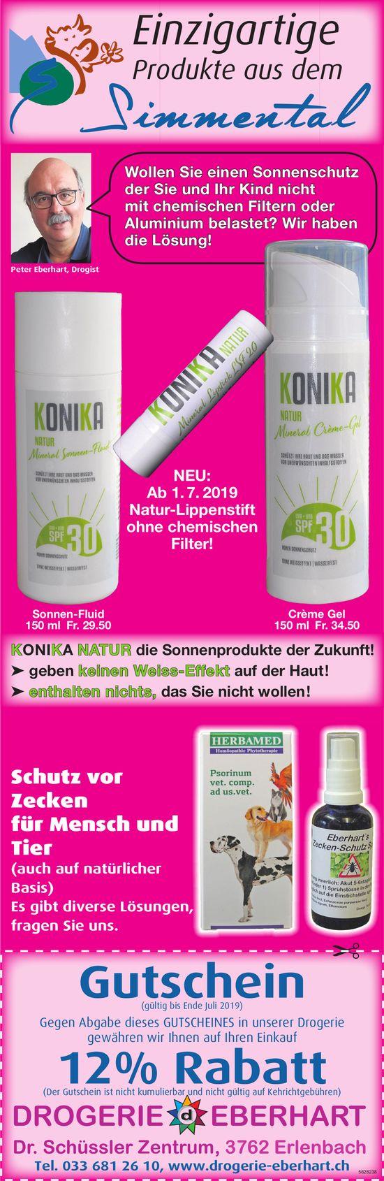 DROGERIE EBERHART, Dr. Schüssler Zentrum, Erlenbach - Gutschein, 12% Rabatt