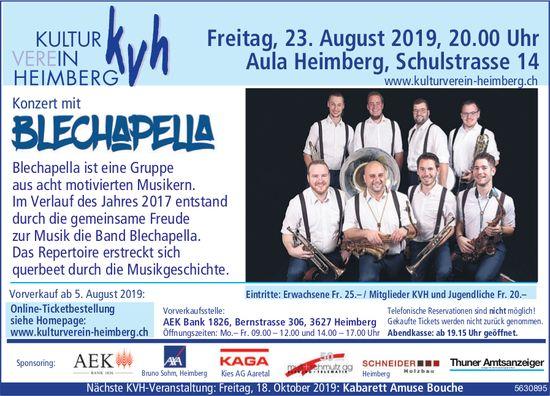 KVH - Konzert mit Blechapella am 23. August