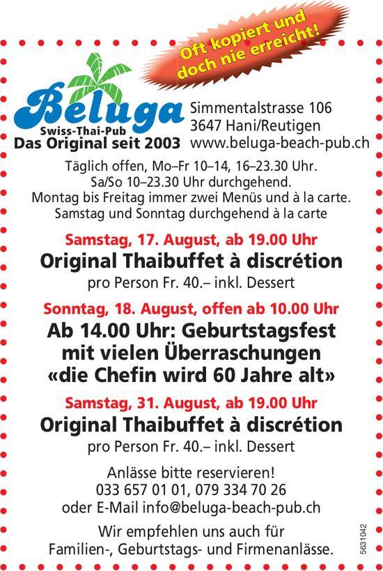 Beluga Swiss-Thai-Pub - Programm & Events