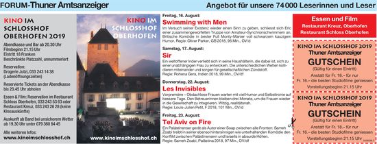 Forum-Thuner Amtsanzeiger - Kino im Schlosshof Oberhofen