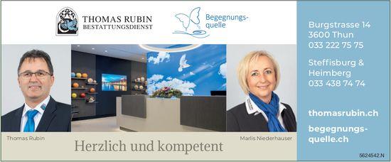 Thomas Rubin, Bestattungen, Thun