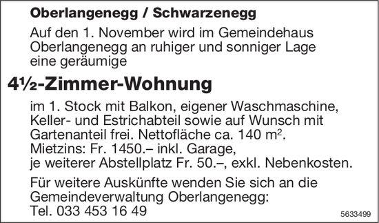 4½-Zimmer-Wohnung in Oberlangenegg / Schwarzenegg zu vermieten