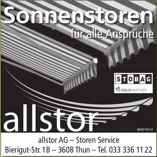allstor AG, Storen Service - Sonnenstoren für alle Ansprüche