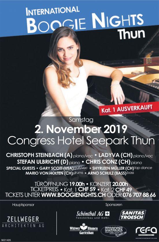 International Boogie Nights Thun am 2. November