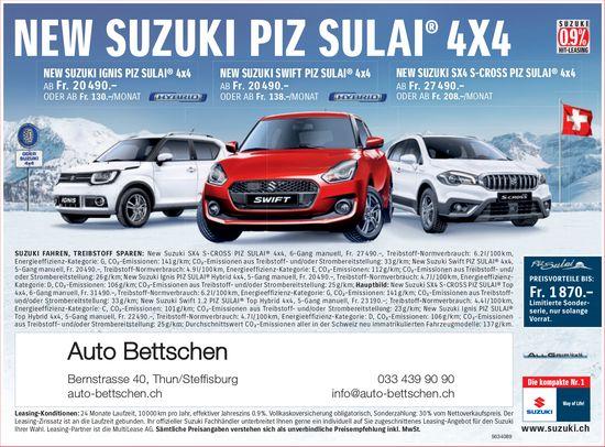 Auto Bettschen - NEW SUZUKI PIZ SULAI 4X4