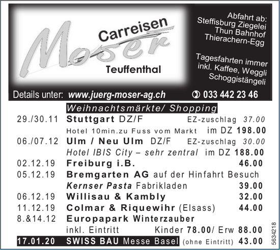 Carreisen Moser, Teuffenthal - Programm & Events
