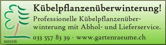 Kübelpflanzenüberwinterung! Professionelle Kübelpflanzenüber- winterung mit Abhol- und Lieferservice.