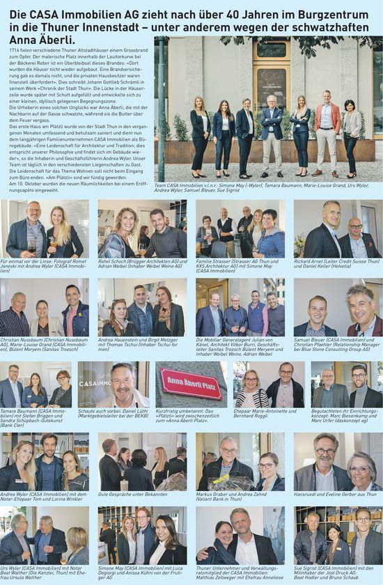 CASA Immobilien AG neu in der Thuner Innenstadt