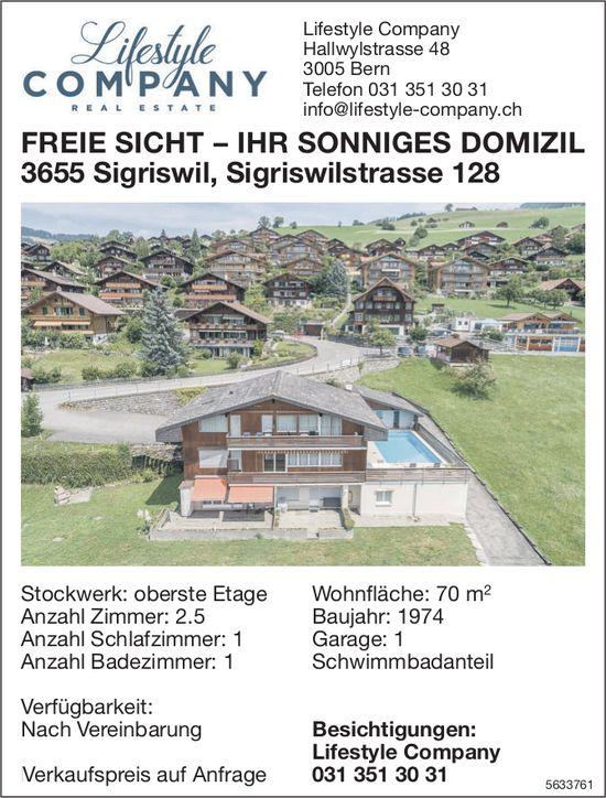2.5 Zimmer Wohnung in Sigriswil zu verkaufen