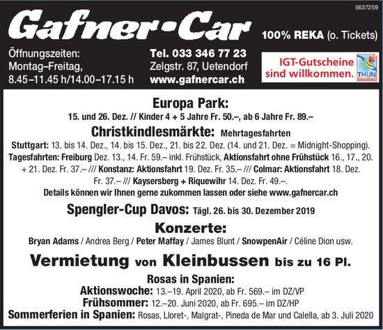 Gafner-Car - Programm & Events