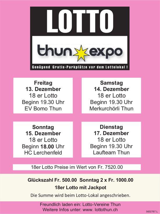 LOTTO Thun Expo - 13./14./15./17. Dezember