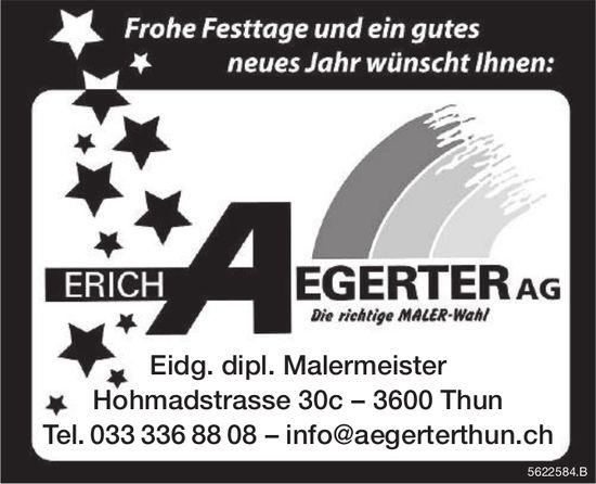 ERICH AEGERTER AG - Frohe Festtage und ein gutes neues Jahr