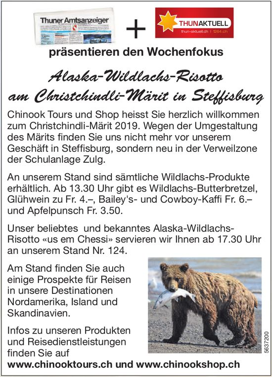 Alaska-Wildlachs-Risotto am Christchindli-Märit in Steffisburg