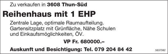 Reihenhaus mit 1 EHP in Thun-Süd zu verkaufen