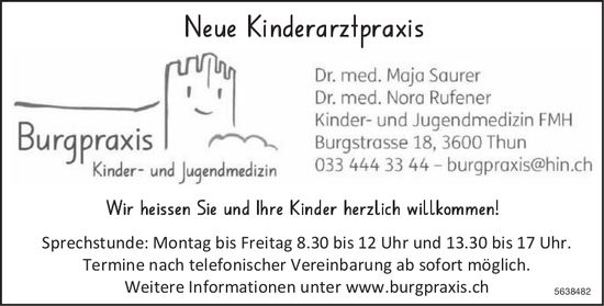 Burgpraxis Kinder- und Jugendmedizin - Neue Kinderarztpraxis