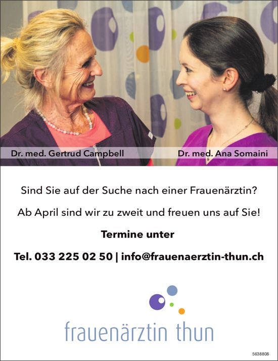 Frauenärztin Thun - Sind Sie auf der Suche nach einer Frauenärztin?