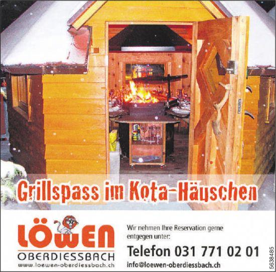 Löwen Oberdiessbach - Grillspass in Kota-Häuschen
