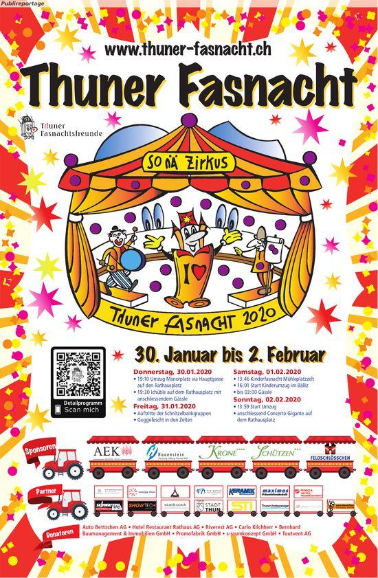 Thuner Fasnacht 2020 , 30. Januar bis 2. Februar