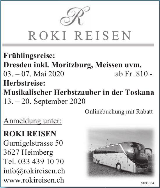 Reisebüro, 20. September, Roki Reisen,  Heimberg