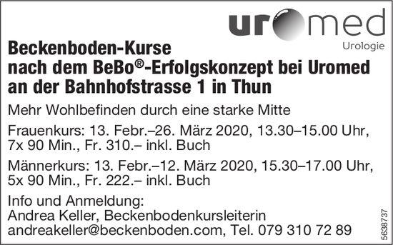 Beckenboden-Kurse nach dem BeBo®-Erfolgskonzept bei Uromed