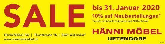 SALE bis 31. Januar, Hänni Möbel AG, Uetendorf