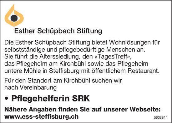 Pflegehelferin SRK, Esther Schüpbach Stiftung, Kirchbühl, Gesucht