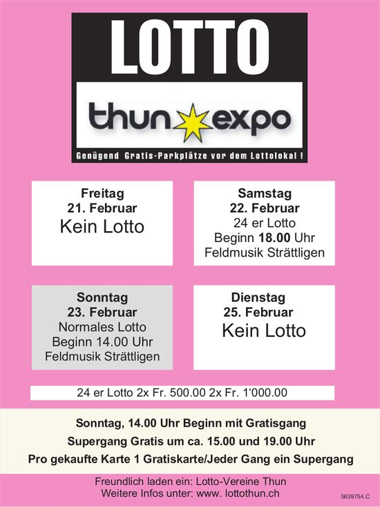 Lotto Thun Expo, 22./23. Februar