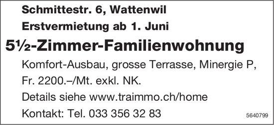 Erstvermietung 5½-Zimmer-Familienwohnung in Wattenwil
