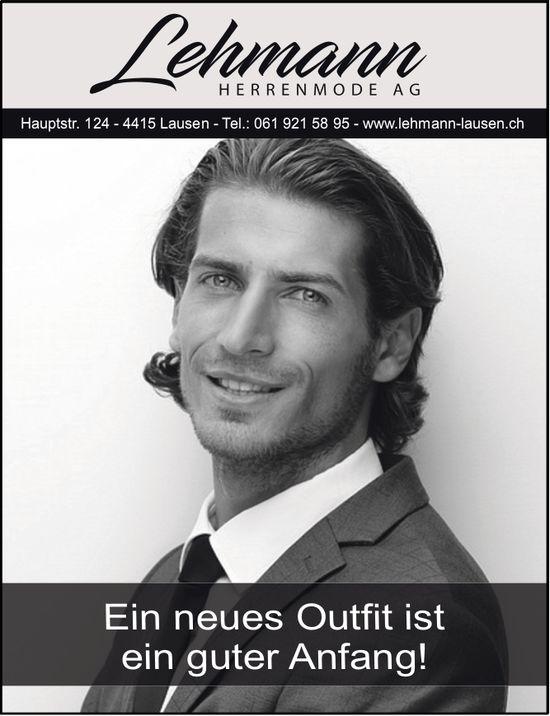 Lehmann Herrenmode AG in Lausen - Ein neues Outfit ist ein guter Anfang
