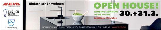 Open House, 30. und 31. März, Heid Küchen, Sissach