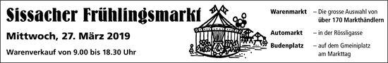 Sissacher Frühlingsmarkt, 27. März