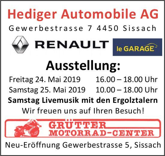 Ausstellung, 24. und 25. Mai, HedigerAutomobileAG, Sissach