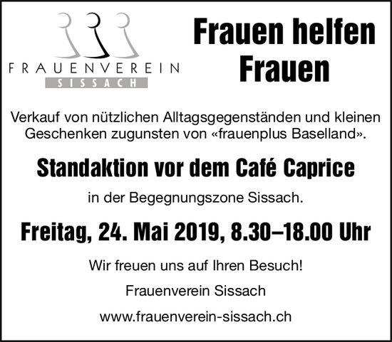 Standaktion, 24. Mai, vor dem Café Caprice, Sissach