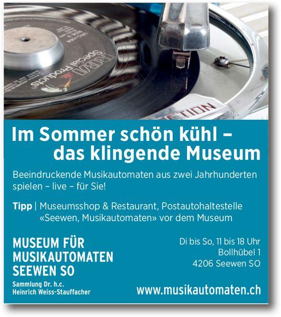 Im Sommer schön kühl - das klingende Museum