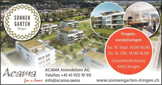 Projektvorstellungen, 14. September und 16. Oktober, Gstaadmattstrasse, Itingen