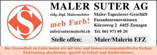 Maler Suter AG, Zunzgen, Offene Stelle als Maler/Malerin EFZ