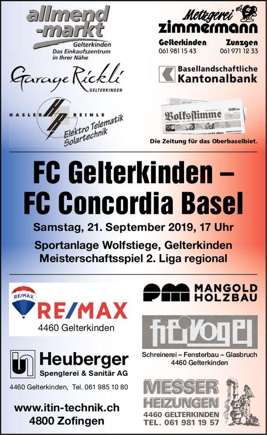 FC Gelterkinden – FC Concordia Basel, 21. September, Sportanlage Wolfstiege, Gelterkinden
