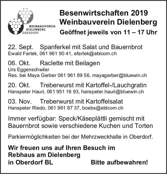 Besenwirtschaften, Weinbauverein Dielenberg, 22. September, Ewald Fartek, Oberdorf BL
