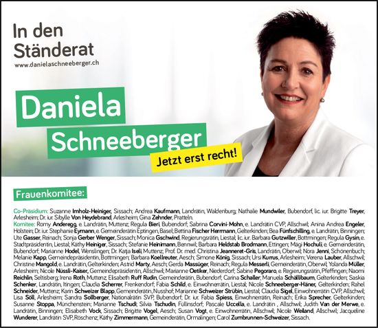Daniela Schneeberger in den Ständerat
