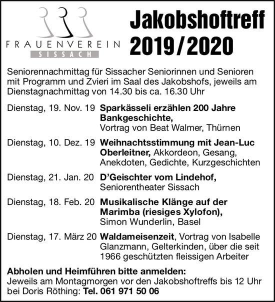 Jakobshoftreff, 19. November, Sparkässeli erzählen 200 Jahre Bankgeschichte, Sissach