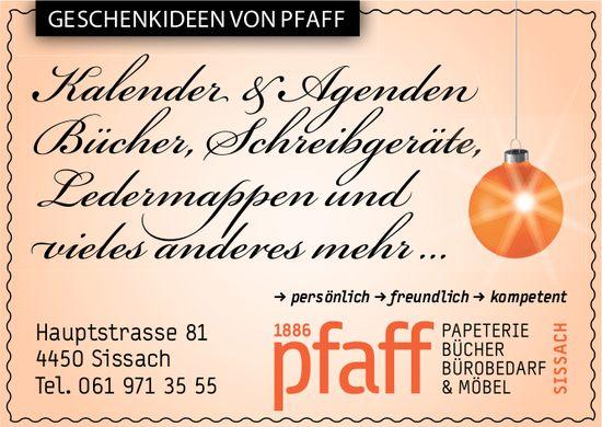 Pfaff Papeterie, Sissach