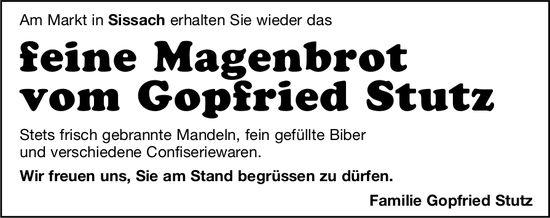 feine Magenbrot vom Gopfried Stutz am Sissacher Markt