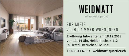 2.5- bis 6.5-Zimmer-Wohnungen, Weidmatt, Liestal, zu vermieten